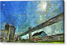 Down On The Farm Van Gogh Acrylic Print by Dan Sproul