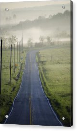 Down Roads Unknown Acrylic Print by Bill Cannon
