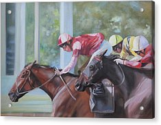 Down The Backstretch Acrylic Print