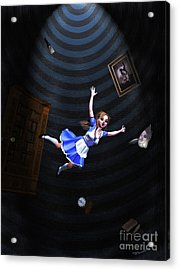 Down The Rabbit Hole Acrylic Print by Methune Hively