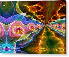 Acrylic Print featuring the digital art Down The Road by Owlspook