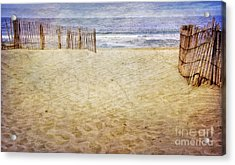 Acrylic Print featuring the photograph Down The Shore by Debra Fedchin