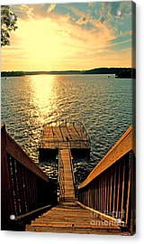 Down To The Fishing Dock - Lake Of The Ozarks Mo Acrylic Print by Debbie Portwood