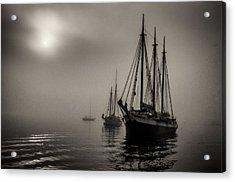 Downeast Fog 1 Acrylic Print by Fred LeBlanc