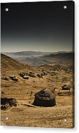 Downhill Acrylic Print by Aaron Bedell