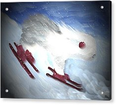 Downhill Racer Acrylic Print