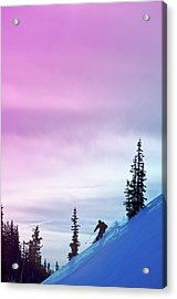 Downhill Skier At Alta Ski Resort Acrylic Print