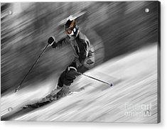 Downhill Skier  Acrylic Print by Dan Friend