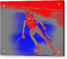 Downhill Skier Acrylic Print by George Pedro