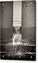 Downspout Acrylic Print by Rudy Umans