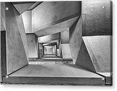 Downstairs Acrylic Print by Guy Goetzinger