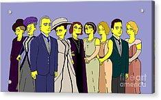 Acrylic Print featuring the digital art Downton Abbey - Cast Nine by Donna Huntriss
