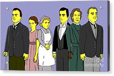 Downton Abbey - Downstairs 6 Acrylic Print by Donna Huntriss