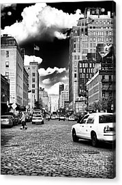 Downtown Cab Ride Acrylic Print by John Rizzuto