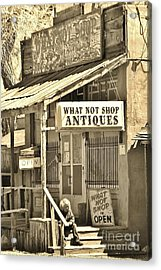 Downtown Cerrillos Acrylic Print