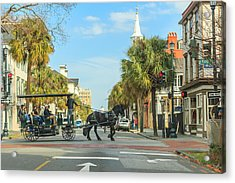 Acrylic Print featuring the photograph Downtown Charleston Stroll by Patricia Schaefer
