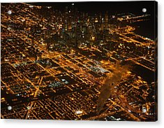 Acrylic Print featuring the photograph Downtown Chicago At Night by Nathan Rupert