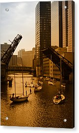 Downtown Chicago Acrylic Print by Miguel Winterpacht