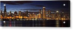 Downtown Chicago Panorama Acrylic Print by Andrew Soundarajan