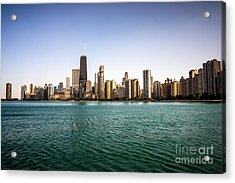 Downtown City Buildings Skyline In Chicago Acrylic Print