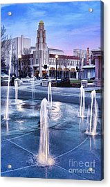 Downtown City Plaza Chico California Acrylic Print