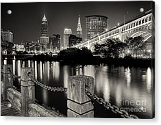 Downtown Cleveland Monochrome Acrylic Print