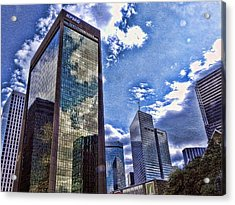 Acrylic Print featuring the photograph Downtown Dallas by Kathy Churchman