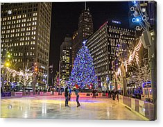 Downtown Detroit Ice Rink  Acrylic Print
