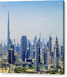 Downtown Dubai Acrylic Print by Joseph Plotz