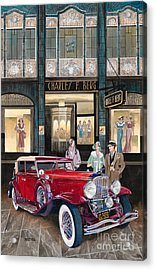 Downtown Duesenberg 1931 Acrylic Print by Mike Hill