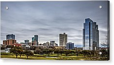 Downtown Fort Worth Trinity Trail Acrylic Print
