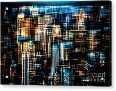 Downtown II - Dark Acrylic Print by Hannes Cmarits
