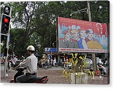 Downtown In Hanoi Acrylic Print by Sami Sarkis