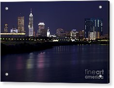 Downtown Indianapolis Indiana  Acrylic Print by Anthony Totah