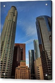 Downtown Los Angeles 001 Acrylic Print by Lance Vaughn