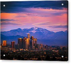 Downtown Los Angeles After Sunset Acrylic Print