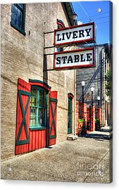 Downtown Madison Indiana Acrylic Print by Mel Steinhauer