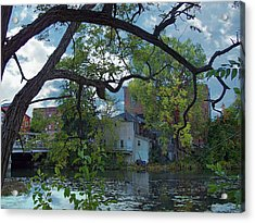 Downtown Manchester Acrylic Print by MJ Olsen
