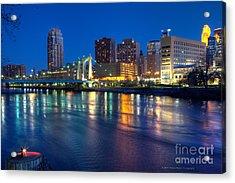 Downtown Minneapolis Skyline Hennepin Avenue Bridge Acrylic Print