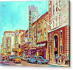 Downtown Montreal Acrylic Print by Carole Spandau