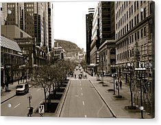 Downtown Montreal Acrylic Print by Jocelyne Choquette