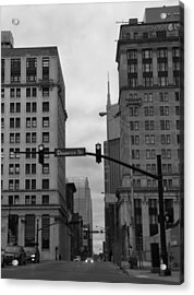 Downtown Nashville In Black And White Acrylic Print by Dan Sproul
