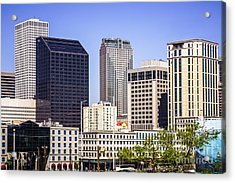 Downtown New Orleans Buildings Acrylic Print by Paul Velgos