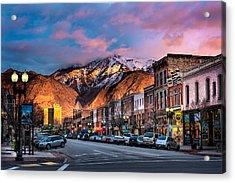 Downtown Ogden Utah Acrylic Print
