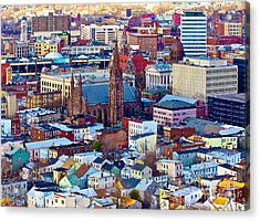 Downtown Paterson Acrylic Print by Mark Miller