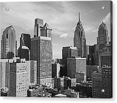 Downtown Philadelphia Acrylic Print by Rona Black