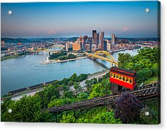 Downtown Pittsburgh, Pennsylvania Acrylic Print by HaizhanZheng