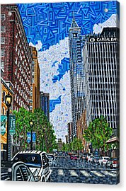 Downtown Raleigh - Fayetteville Street Acrylic Print by Micah Mullen