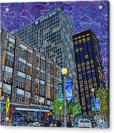 Downtown Raleigh - Hudson Building Acrylic Print by Micah Mullen
