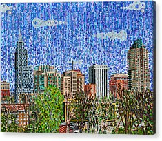 Downtown Raleigh - View From Boylan Street Bridge Acrylic Print by Micah Mullen
